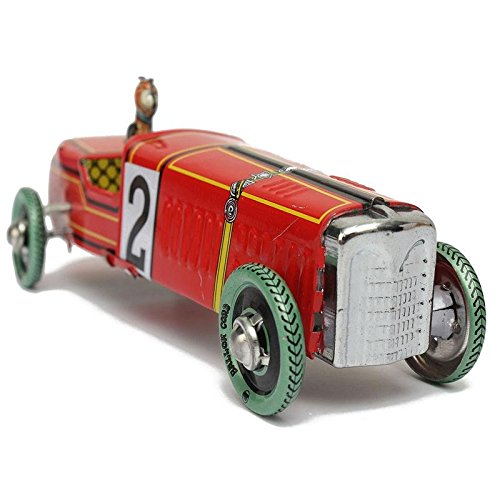 Coolest Vintage Iron Metal Hand Craft Wind-Up Racing Old Classic Race Car Model Clockwork tin Vehicle Toy Car Decor Collect Gift (18 X 24 Display Case compare prices)