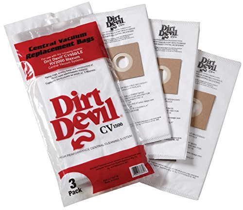 Dirt Devil CV950, CV950LE, RV2000 Maxum Central Vac Bags (6 (Dirt Devil Replacement)