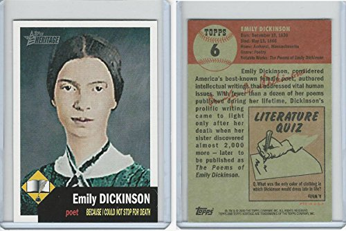 2009 Topps, American Heritage, 6 Emily Dickinson (2009 Topps Heritage Card)