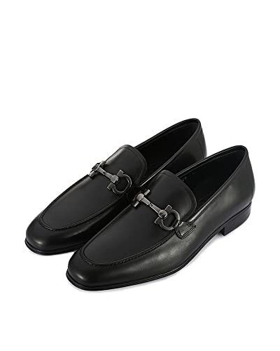 Salvatore Ferragamo - Mocasines para hombre negro negro IT - Marke Größe, color negro, talla 38 IT - Marke Größe 5: Amazon.es: Zapatos y complementos