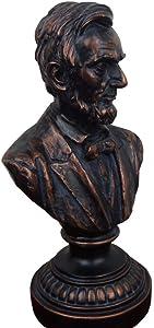 LIUSHI Lincoln Bust Statue, US President Abraham Lincoln Resin Bust Statue Sculpture Crafts Character Souvenir