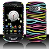 Black with Rainbow Color Zebra Rubberized Snap on