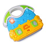 Music Toys House KAWO Cartoon House Shape Early Education Learning Toys for Kids Flashing Led Light Up Musical Toys Play Songs Animal Sounds for Toddler Boys Girls 12+ Months