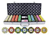 500 Piece Stripe Suited V2 Clay Poker Chips Set (Small Image)