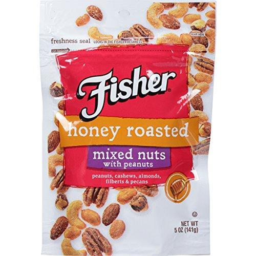 Fisher Snack Honey Roast Mixed Nuts, 5 Ounce Honey Roast