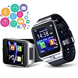 Indigi Unlocked! 2-in-1 GSM + Bluetooth SmartWatch Phone Built-in Camera AT&T T-mobile (Silver)