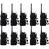 Blomiky 10 H-777 Two-Way Radio Long Range UHF 400-470MHz Signal Frequency Single Band 16 CH Walkie Talkies with Original Earpiece H777 (10 Pack)