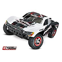 Traxxas Slash 2WD Short Course Truck, Titan 12t, 3000 NiMH Battery, TQ Radio, On Board - WHITE by Traxxas