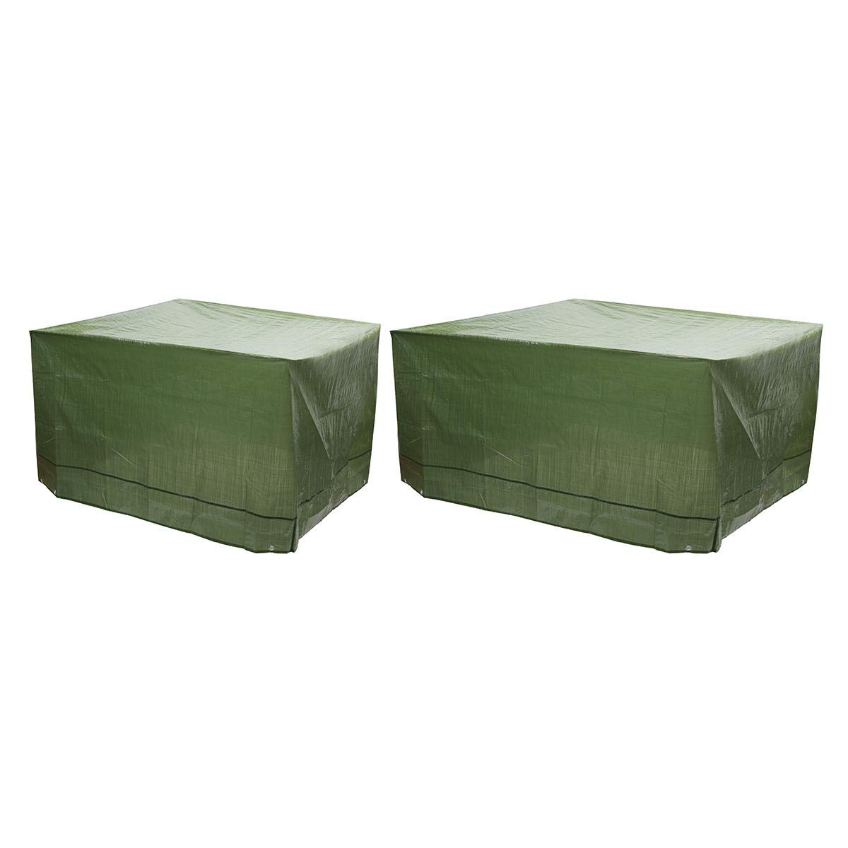 Stock_Home, Raw Materials, Single New PE Woven Durable Garden Furniture Dustproof and Waterproof Cover ArmyGreen - (Size: B)