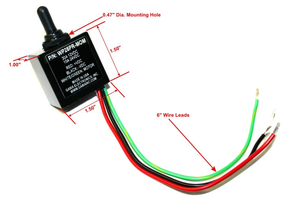 51vbWMg392L._SL1000_ amazon com waterproof 3 position on off on toggle switch reverse Six Terminal Switch Wiring Diagram Forward Reverse at fashall.co