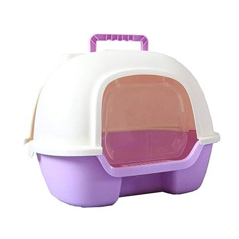 SELCNG - Caja de Arena con Capucha para Gatos, con Bandeja para Basura, higiénica