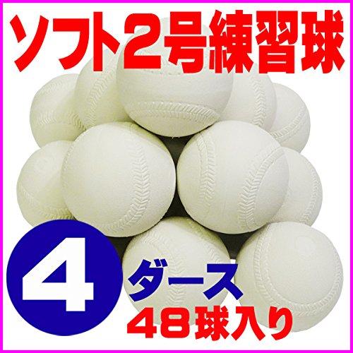 ソフトボール 2号 練習球 スリケン 検定落ち 4ダース (48球入り) Training-soft2-48 B00EMSJKNE