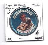 LUIS APARICIO 1964 Topps All-Stars Coin #127 Baltimore Orioles Baseball