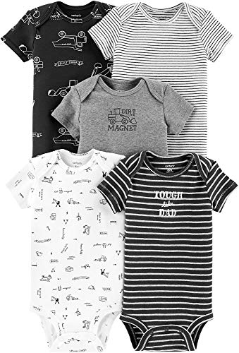 a81c387fa60f9 Carters Baby Boys 5-pk. Construction Bodysuits 9 Months Grey Black White