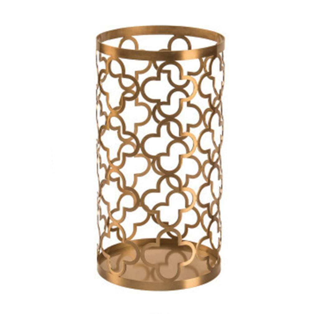フラワーベース花器 花瓶ホローメタルフラワーコンテナホームデコレーション豪華装飾品バラ花瓶ホームデコレーションギフト美しく寛大 (Color : Gold, Size : 17*31cm) B07S9KDX7Q Gold 17*31cm