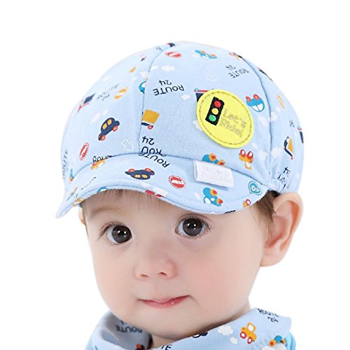 Ularmo Baby Kid Boy Girl Kid Toddler Infant Hat Little Car Baseball Beret Cap (blue)