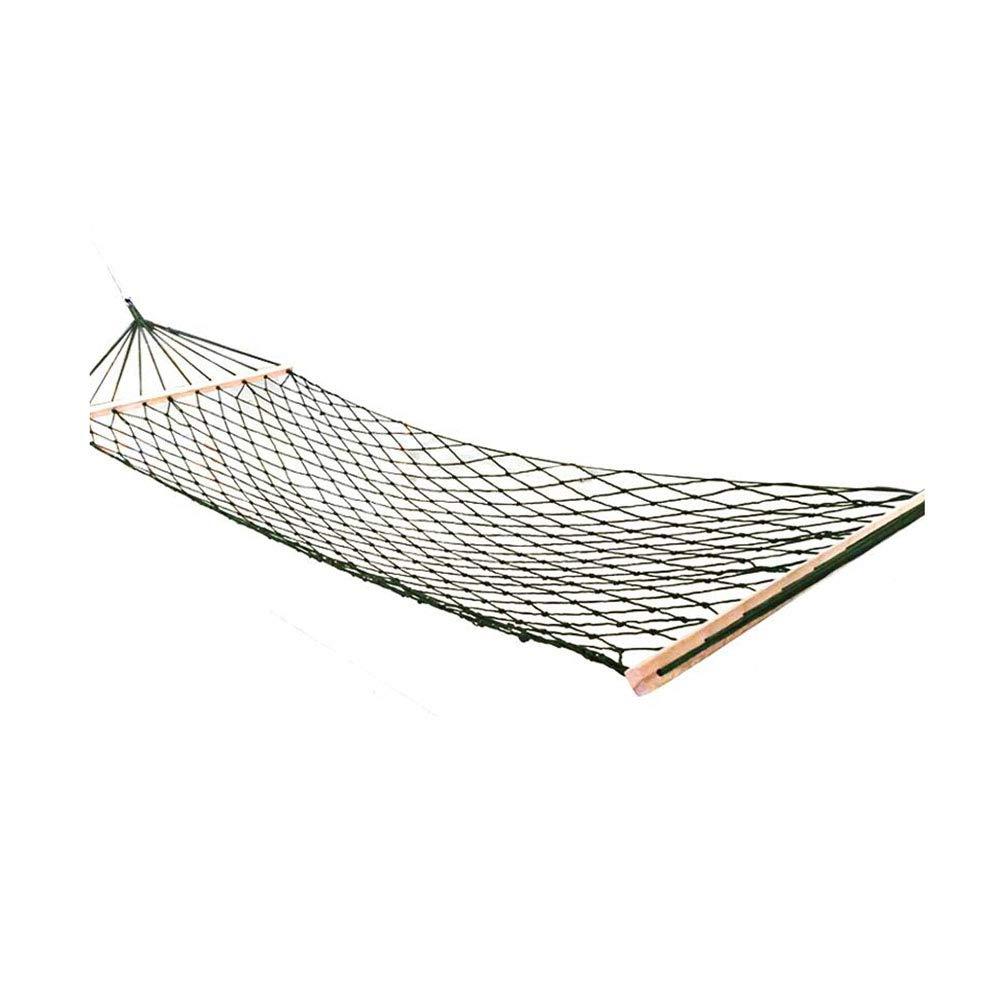 Dall hängematte Camping Hängematte Nylon Reise Mesh Hängendes Bett Draussen Garten Swing Tragbar (Farbe : Grün)