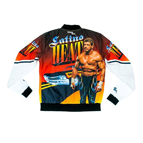 Eddie Guerrero Latino Heat - WWE Authentic Wear Eddie Guerrero Latino Heat Retro Fanimation Chalk Line Jacket Multi Large