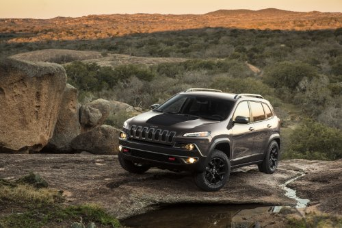 Jeep Cherokee Trailhawk 2014 Car Art Poster Print on 10 mil Archival Paper Black