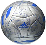 adidas Performance Messi Soccer Ball, Silver Metallic Grey /Shock Blue/Vista Grey, Size 5