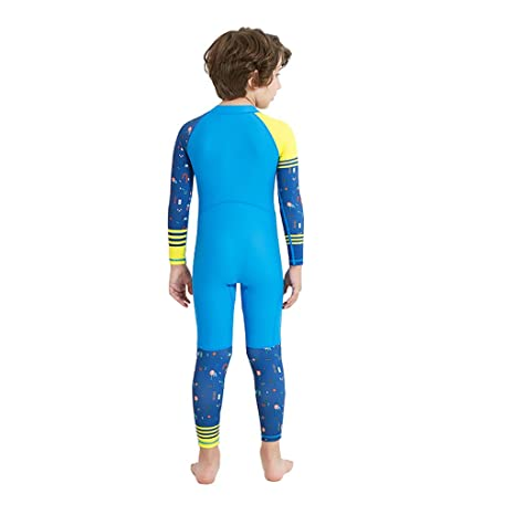Gogokids Kids Surfing Suits Swim Wetsuit One Piece Swimsuit Long Sleeve for Water Sports