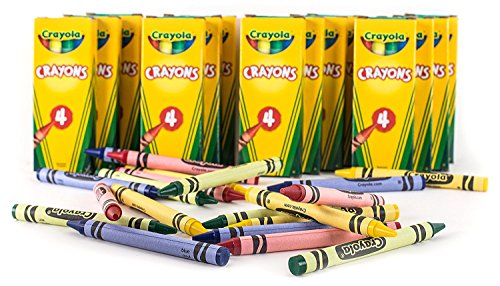 (Crayola 4-ct. Crayon Party Favor Pack, 24)