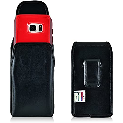 Galaxy S7 Edge Holster,Made in USA Turtleback Vertical Samsung Galaxy S7 Edge Belt Case, fits Otterbox Commuter Sales