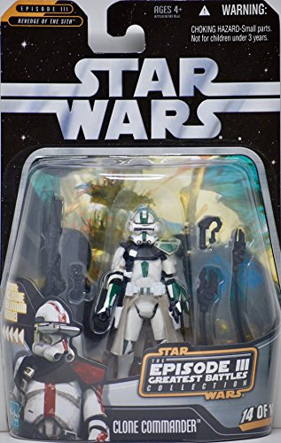Green Clone - STAR WARS THE EPISODE III GREATEST BATTLES- CLONE COMMANDER #14