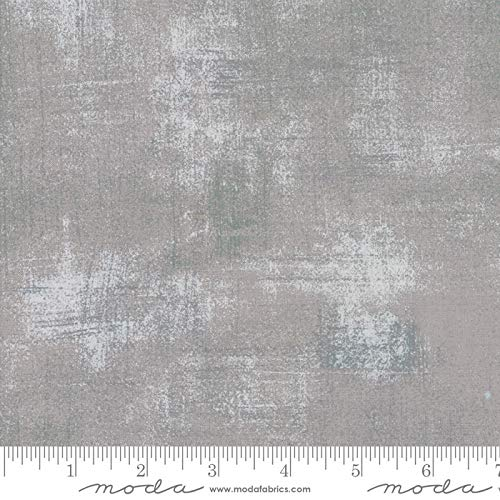 Moda Basic Grey Grunge Quilt FabricSilver Style 30150/418