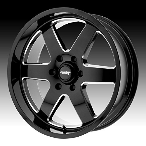 AMERICAN RACING AR926 PATROL Wheel with BLACK and Chromium (hexavalent compounds) (17 x 8.5 inches /5 x 83 mm, 0 mm Offset) (American Jeep Racing)