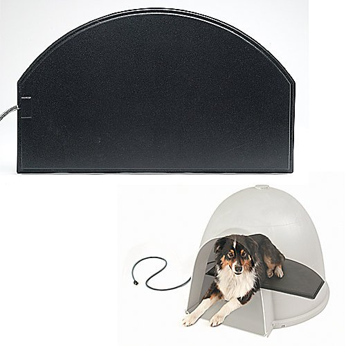 K&H Pet Products Lectro-Kennel Igloo Style Outdoor Heated Pad Medium Black 14.5