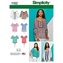 Simplicity Pattern 1162 Misses' Blouse with Sleeve, Length and Trim Variations Sizes 6-8-10-12-14
