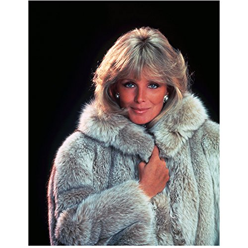 Linda Evans 8 inch x 10 inch Photo Dynasty The Big Valley Tom Horn Wrapped in Fur Coat Stunning Blue Eyes kn