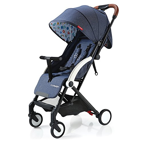 SpringBuds Lightweight Baby Stroller Anti-shock Toddler Travel Buggy with Sun Canopy&Storage Basket-Navy Blue by Springbuds