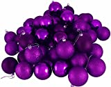 "24ct Purple Passion Shatterproof 4-Finish Christmas Ball Ornaments 2.5"" (60mm)"
