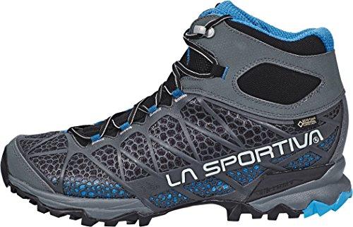 La Sportiva–Core High GTX Zapato de Senderismo Para Hombre, 5 Carbon/Blue
