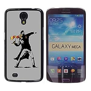 """For Samsung Galaxy Mega 6.3 , S-type Street Art Rebel"""" - Arte & diseño plástico duro Fundas Cover Cubre Hard Case Cover"""