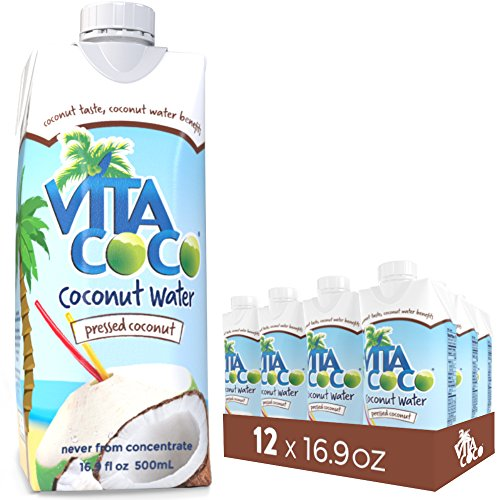 Vita Coco Coconut Water, Pressed Coconut | IMPOSSIBLE TO HATE | Tastes Like Coconut | Naturally Hydrating  | Gluten Free | 16.9 Ounce (Pack of 12)