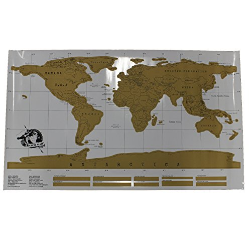 Scratch Off Peel World Map for Travel, Study, Education, Personalised by Kurtzy TM
