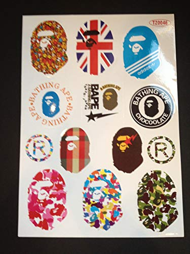 13 Bape Skateboard Longboard Vintage Vinyl Sticker Laptop Luggage Car Decals