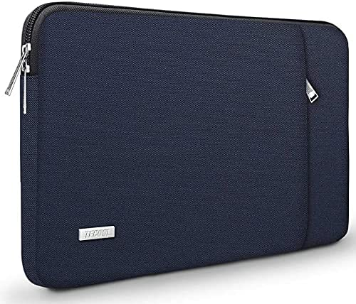 TECOOL Housse Ordinateur Portable pour 15-15.6 Pouces Acer HP Dell Lenovo Thinkpad Ideapad Samsung Notebook Chromebook Pochette Sacoche avec Poign/ée Gris