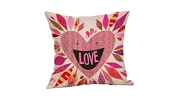 Lialbert cojín Happy Love Day cojín Cuadrado Love Sweet Love ...