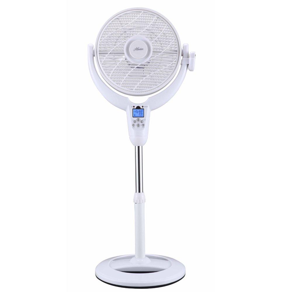Amazon.com: Hunter Home Comfort F-7507 Black Airflo 360 Pedestal Fan-LCD Display & Thermostat: Home & Kitchen