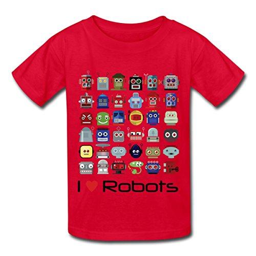 Spreadshirt I Love Robots Kids' T-Shirt