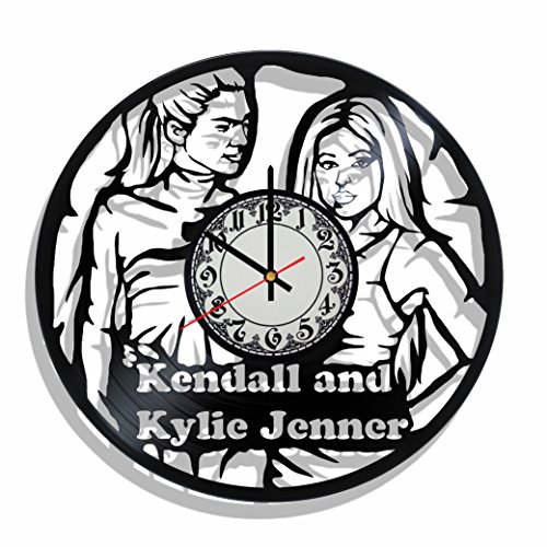 Vinyl record wall clock kendall and kylie jenner, kendall and kylie jenner room decor, kendall and kylie jenner wall poster