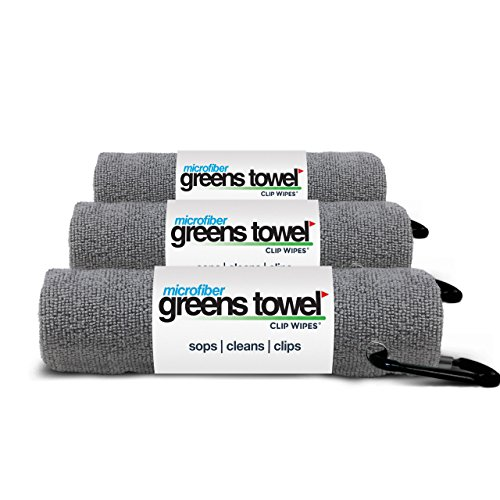 - 3 Pack of Sterling Silver Microfiber Golf Towels