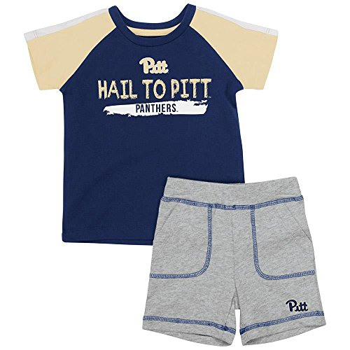 Colosseum Infant Pittsburgh Panthers Tee Shirt and Shorts Set - 6 to 12 Months