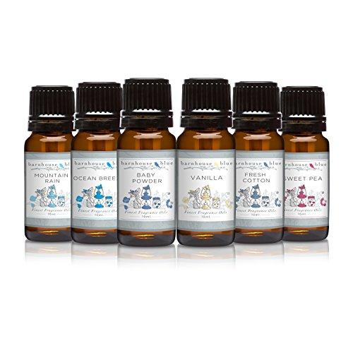 Premium Grade Fragrance Oil - Fresh Summer - Gift Set 6/10ml Bottles - Baby