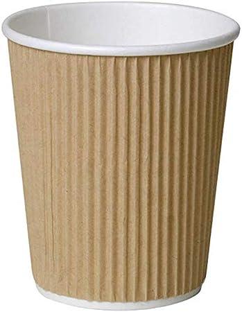 8oz Instant Tea Cups PLA PE Coated Kraft Paper Coffee Cups Eco Friendly