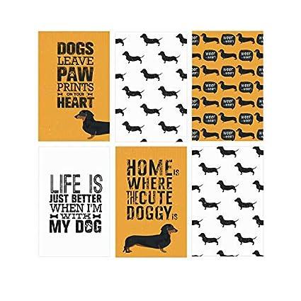 Set Of 6 11x17 Dachshund Dog Art Posters